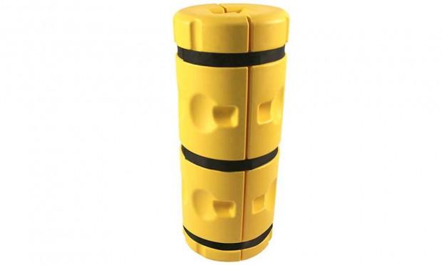 Pfostenschutz Kunststoff gelb