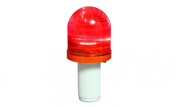 LED-Blinkleuchte für Leitkegel faltbar