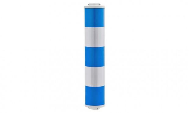Warnsäule - blau/weiß geblockt